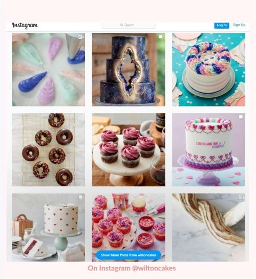 wilton cakes instagram feed is BEAUTIFUL!