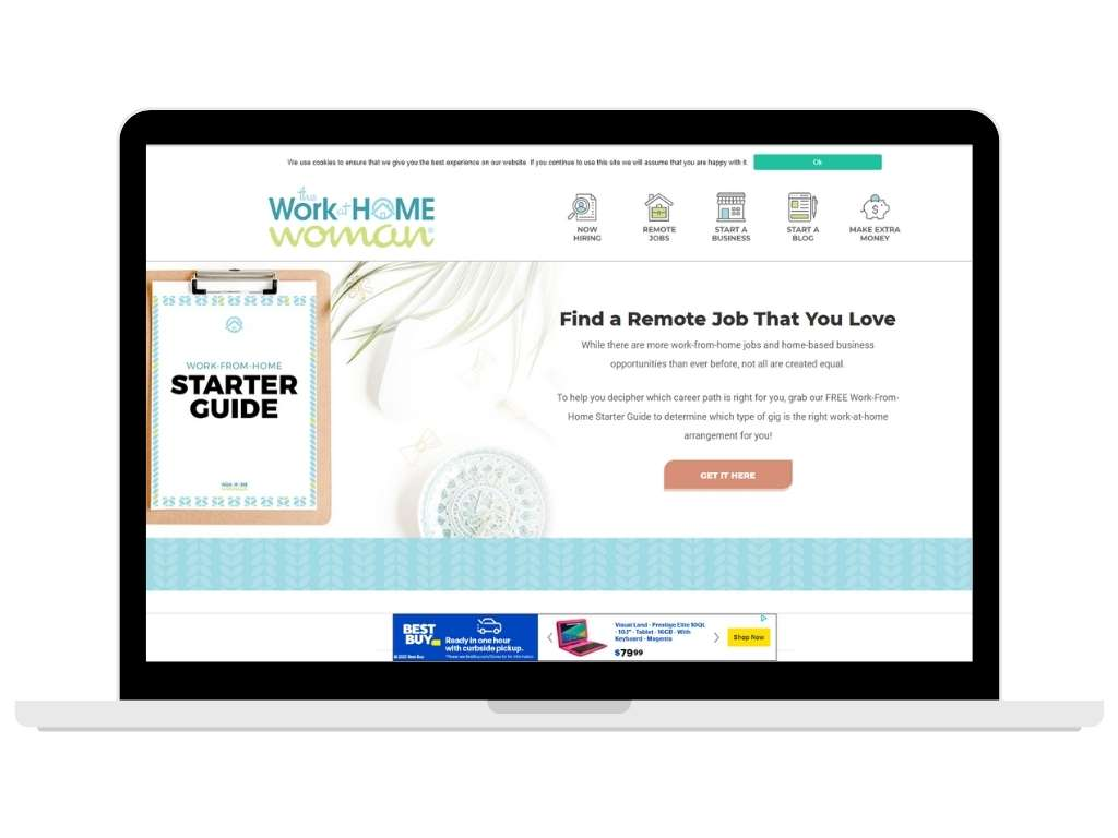 The Work at Home Woman blog - work at home mom blogs